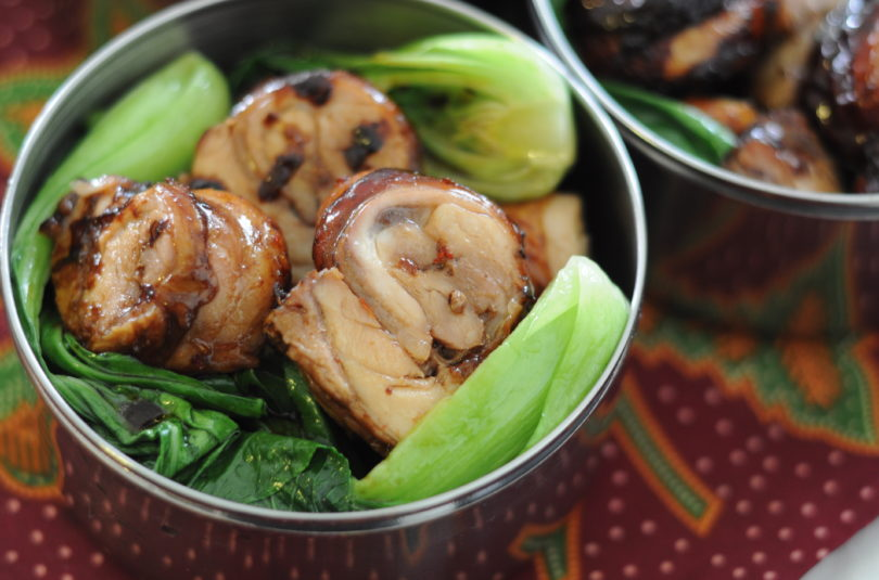 5 Spice Roast Chicken Medallions with Bak Choi