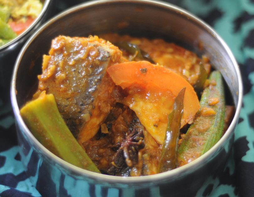 Malaysian Salmon Fish Curry