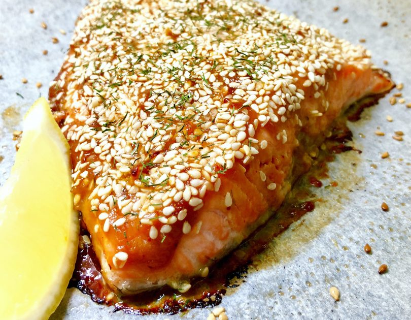 Sesame Crusted Miso Salmon