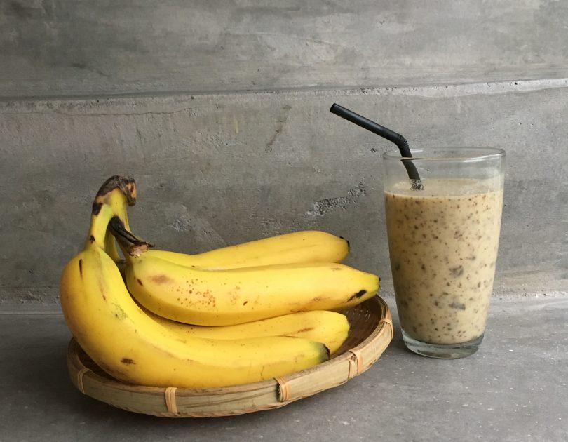 Banana Chocolate Chip Peanut Butter Milkshake