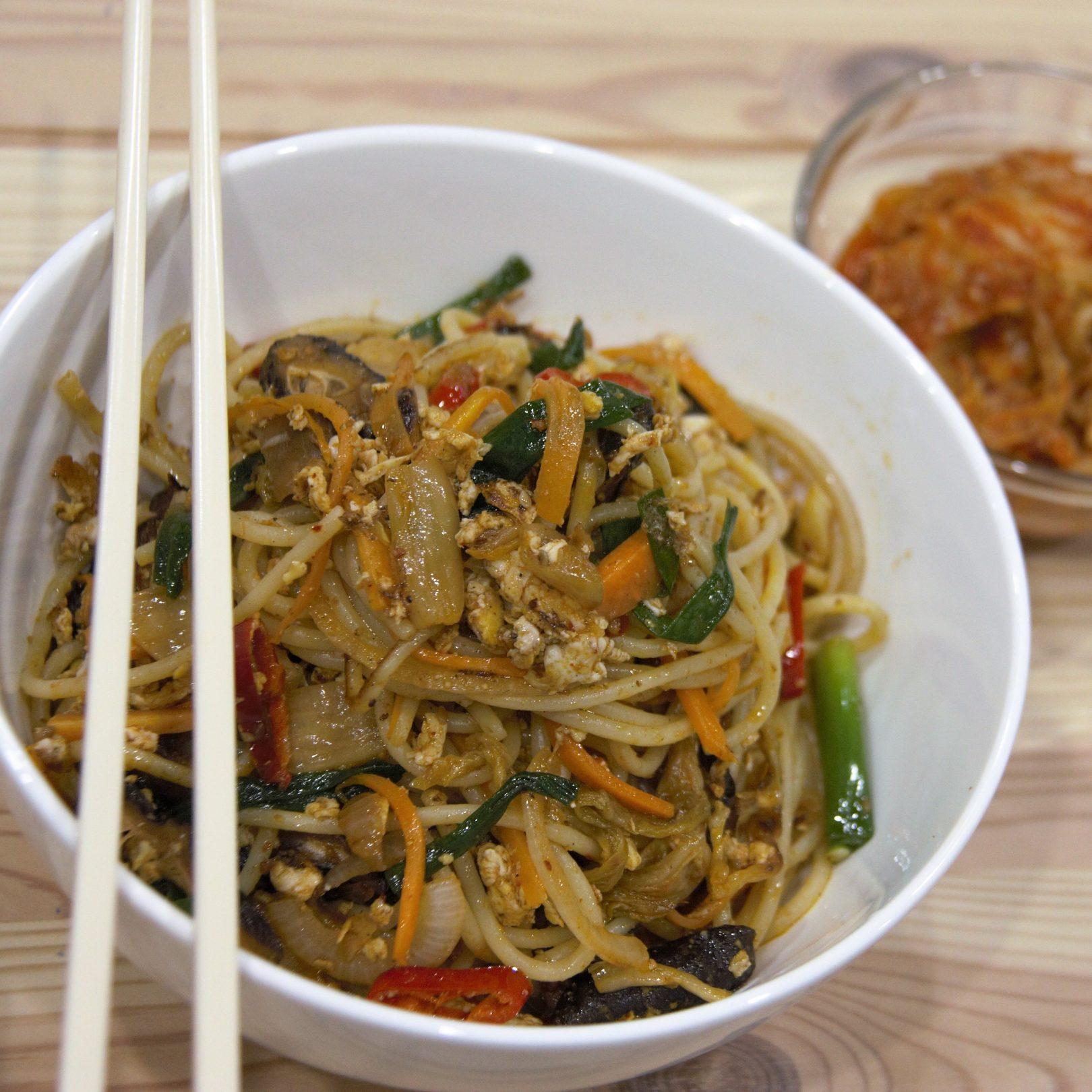 Stir Fried Kimchi Noodles