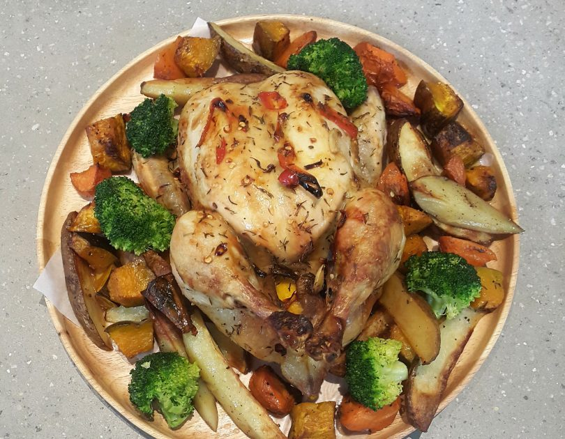 Spicy Roast Chicken with Vegetables