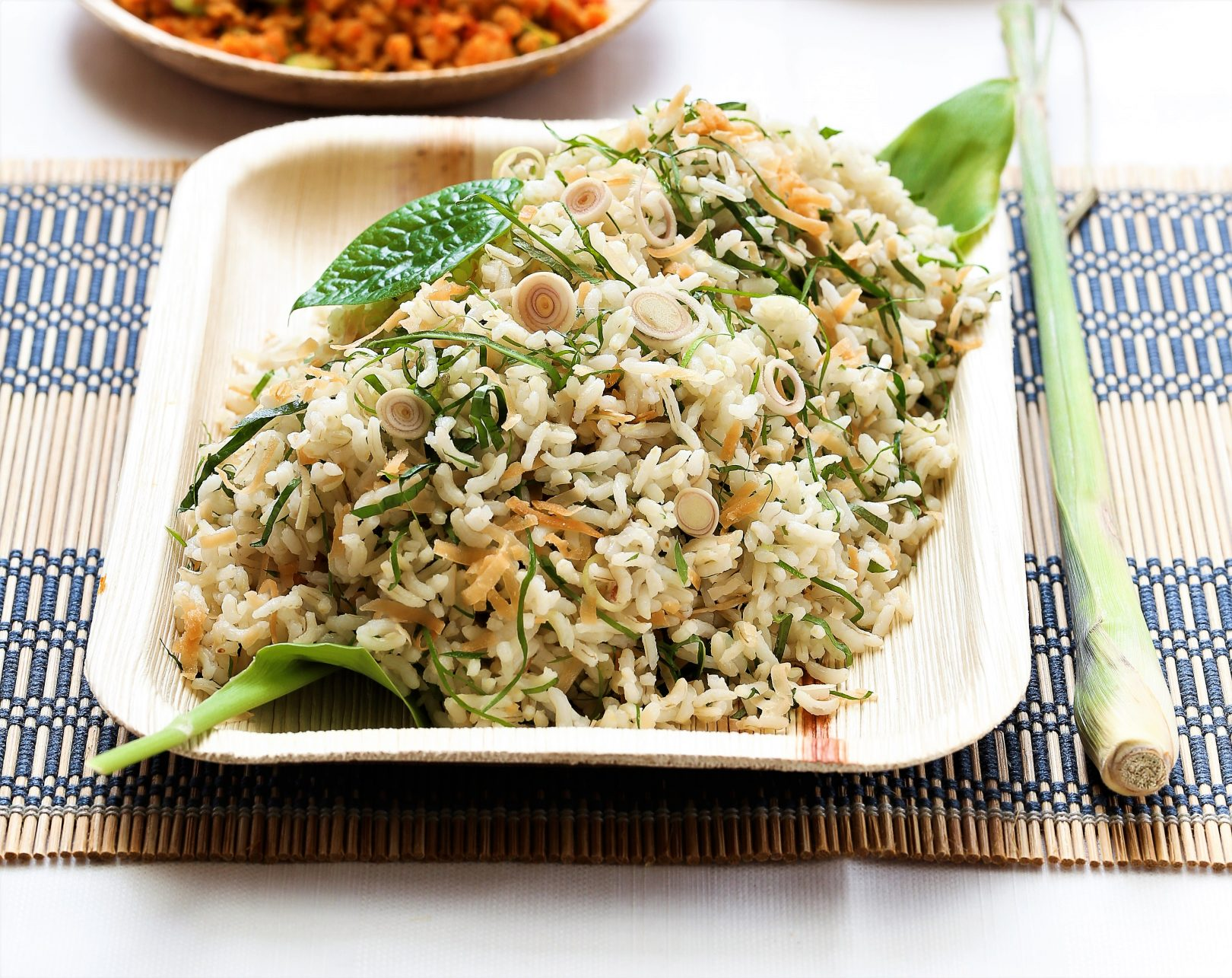 Express Brown Rice with Traditional Herb Salad