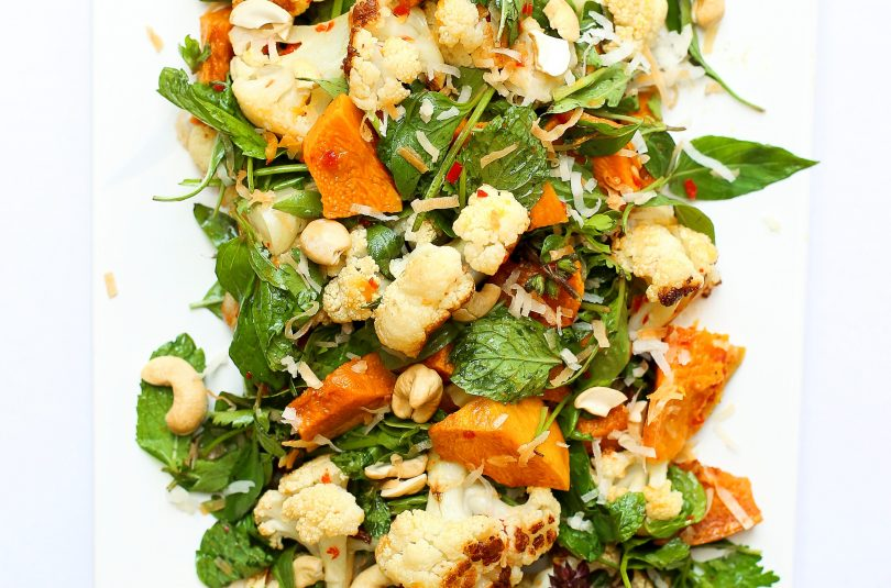 Roasted Pumpkin Cauliflower Salad