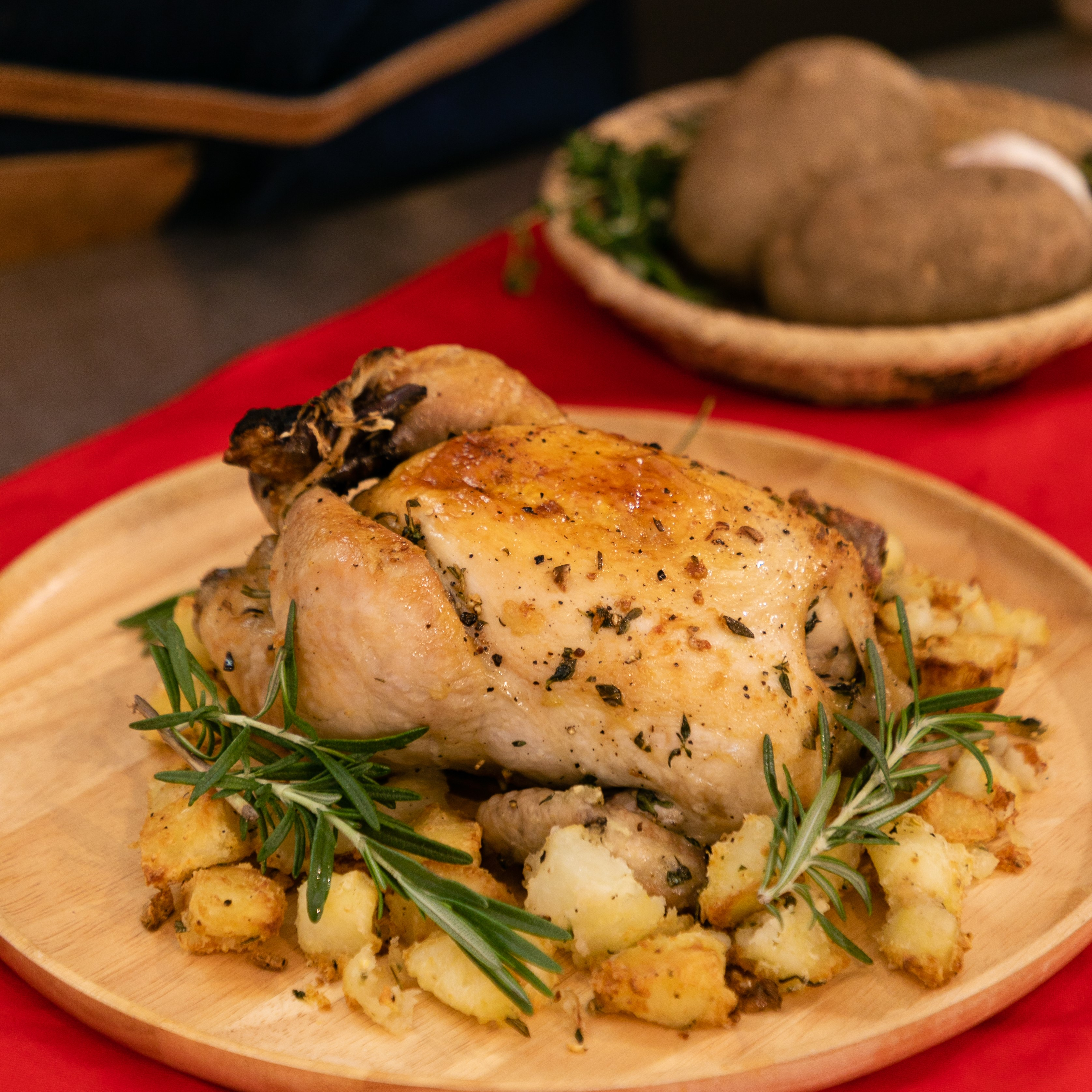 Perfectly Roast Chicken with Potatoes