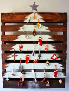 Christmas tree from up cycled materials