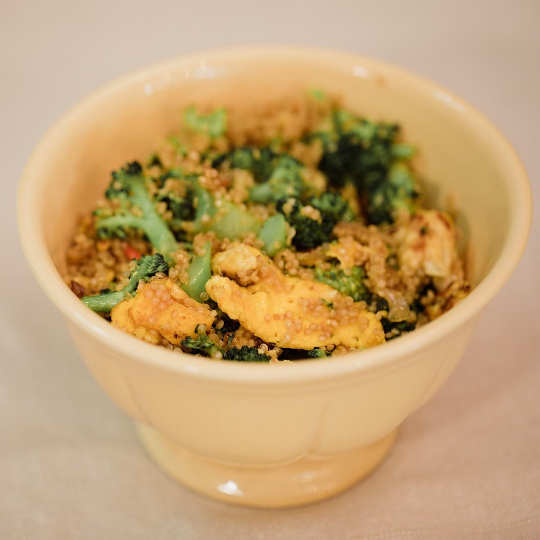 Quinoa Goreng Kunyit