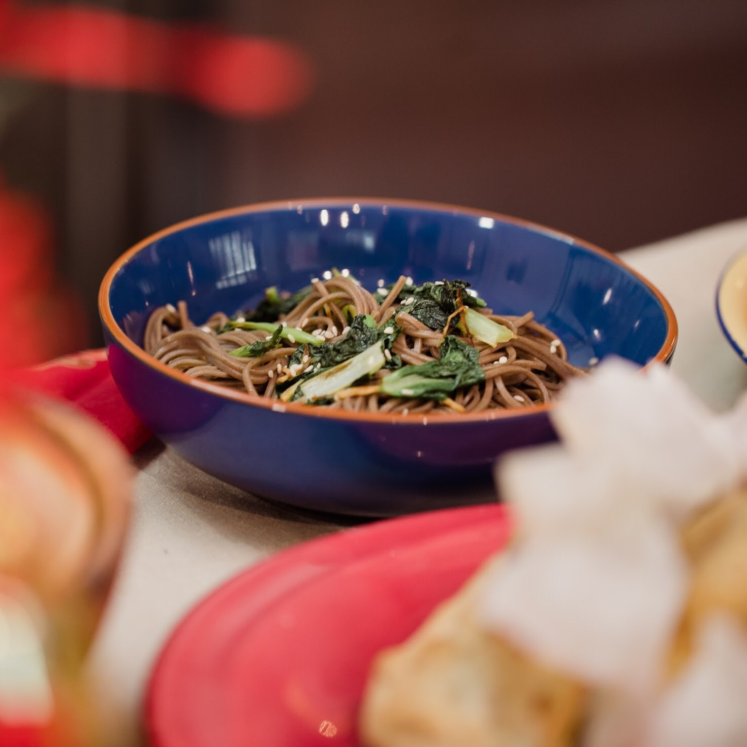 Soba Noodles with Chinese Greens