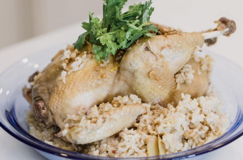 Steamed Chicken with Rice