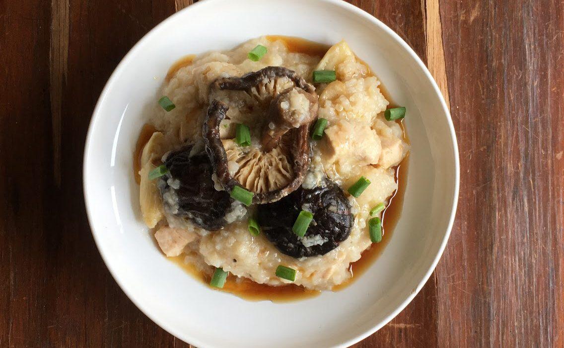 Mushroom Chicken Porridge