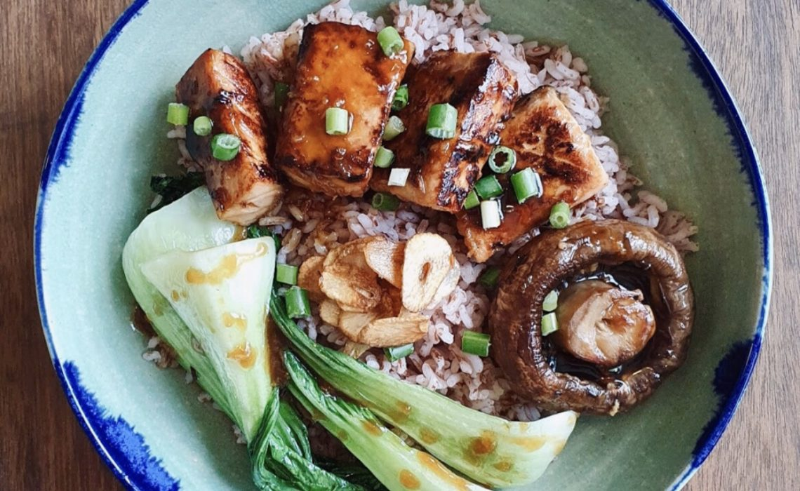 Salmon Teriyaki Don