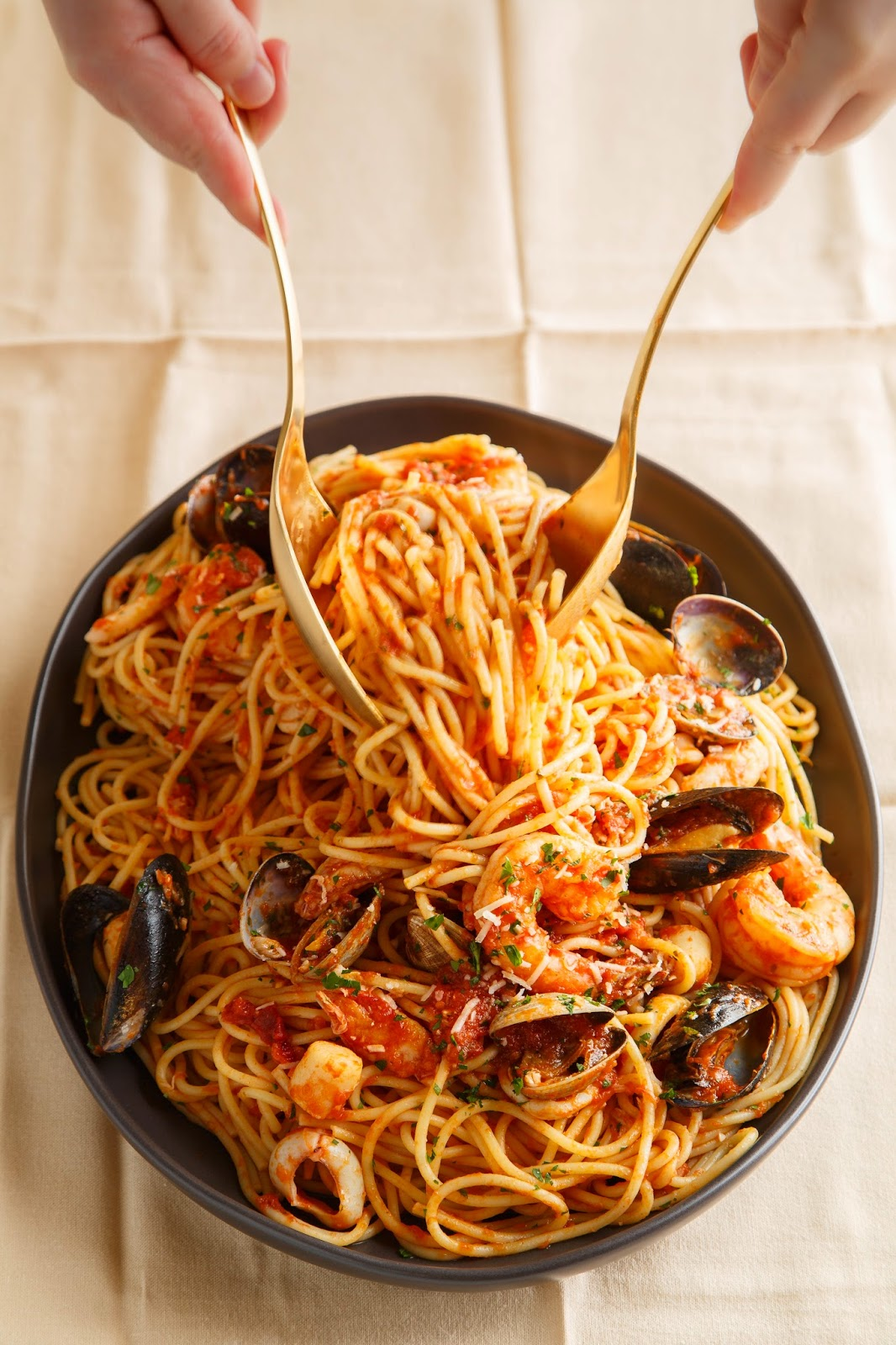 Fancy Seafood Marinara Pasta