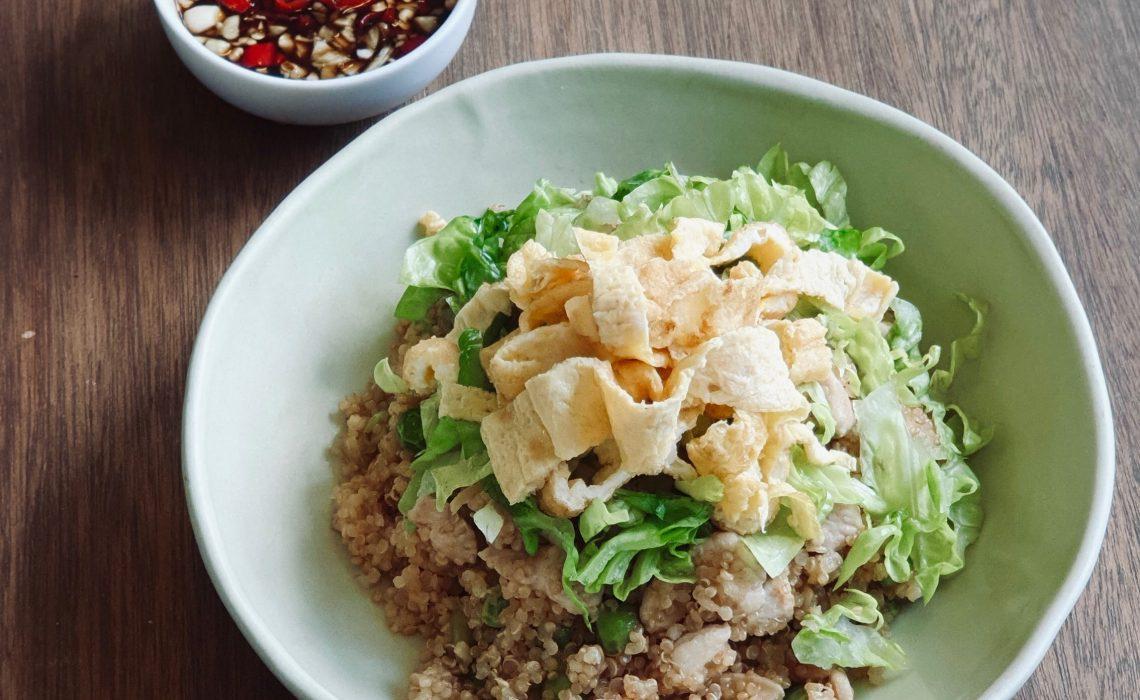 Garlic Quinoa Stir Fry