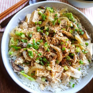 Vegetarian Oyakodon